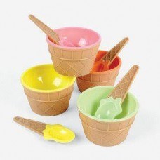 Ice Cream Bowls With Spoon