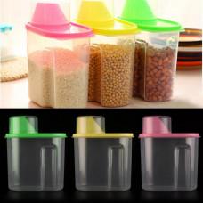Set Of 3 Food Grade Plastic Kitchen Storage Jar Dispenser Box(Set Of 3)