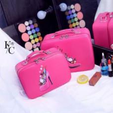 2pic set Cosmetic Portable  Large Capacity Storage Bag( Big  10/7 Smol 9/6)