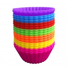 12pcs Perfect Prices Silicone Baking Cup Cake