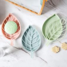 Leaf Shape Double Layer Soap Dish Case