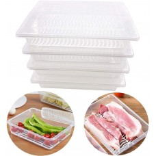 1 pcs Food Storage Container Box with Removable Drain Plate and Lid,