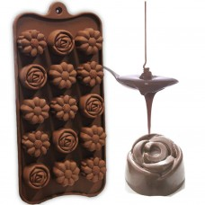 Silicone Multi Flower Shape Chocolate Mould
