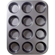 12 pc Muffin Tray Non-stick material Microwave Safe