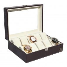10 Slot Leather Watch Box Organiser