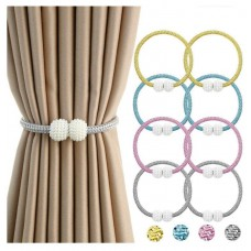 1 pair Polyester Modern Curtain Tiebacks Clips, Standard, Random Color