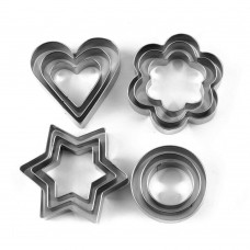 12Pcs/Set Cookie Cutters Moulds Stainless Steel