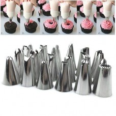 24 Pc Cake Nozzle Set With Reusable Icing bag