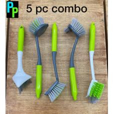 Toilet Plastic Brush 5 PC COMBO